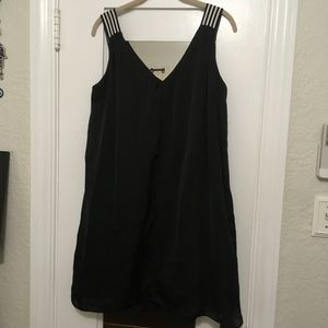 Marc Cain Black Dress with Black and White Straps